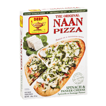 Deep The Original Naan Pizza Spinach & Paneer Cheese