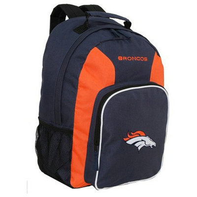 Concept One NFL Denver Broncos Southpaw Team Color Backpack - School Supplies