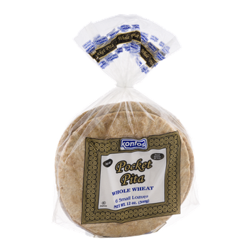 Kontos Pocket Pita Whole Wheat - 6 CT