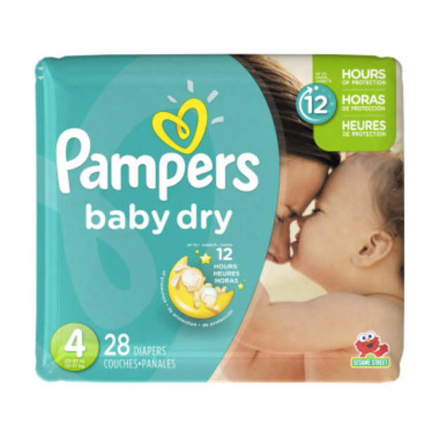Pampers Baby Dry Size 4 Diapers Jumbo Pack 28 ct.