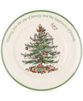 Spode Christmas Tree Sentiment Plate