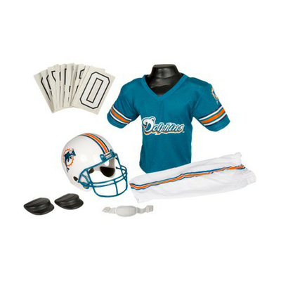 Franklin Sports NFL Dolphins Deluxe Helmet and Uniform Set - Small