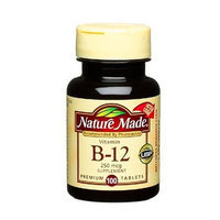 Nature Made Vitamin B-12 250mcg, 100 Tablets (Pack of 3)
