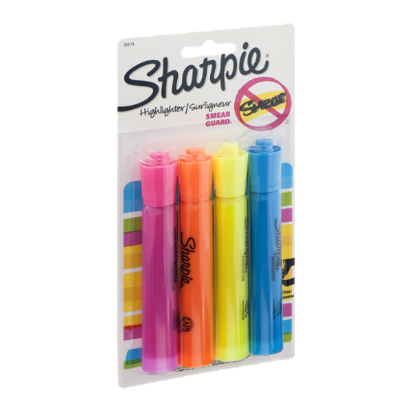 Sharpie Highlighter Smear Guard - 4 CT