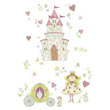 Brewster WallPops! Princess Fairyland Giant Wall Art Kit - Multicolor