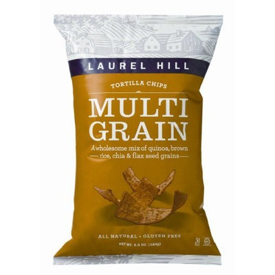 Laurel Hill Tortilla Chips Multigrain, 6.5-Ounce Bags (Pack of 12)