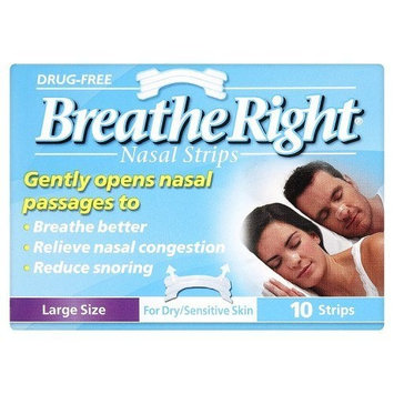 Breathe Right Nasal Strips Clear Large 10 STRIPS