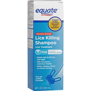 Equate Lice Treatment Shampoo, 8 fl oz