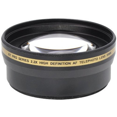 Xit XT2X58 58mm 2.2x Telephoto Lens (Black)