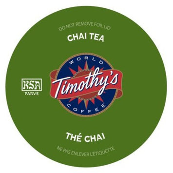 Timothy's World Coffee, Chai Tea K-Cups, 24 - 2.64 ounce