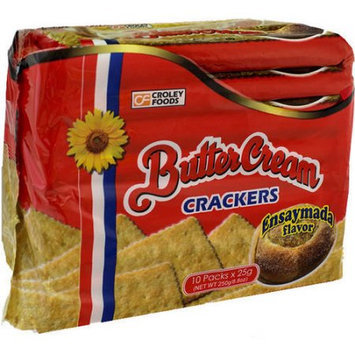 Croley Foods Butter Cream Ensaymada Crackers, 10 count