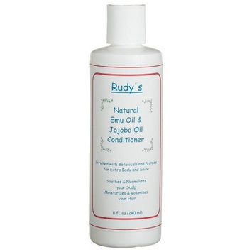 Rudy's Emu Oil And Jojoba Oil Conditioner, 8-Ounce Bottle