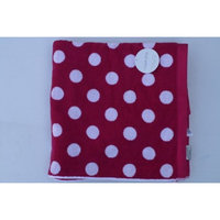 Charisma Resort Towel - 100% Pima Cotton Loops 35in x 70in, Red Polka Dot