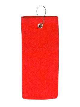 Pds Online 100% Cotton Terry Sports Golf Towel with Grommet and Hook Red2101