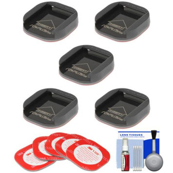 Replay XD SnapTray Flat (5 Pack) with 3M Mount Adhesive + Cleaning Kit for Replay XD 1080 Mini, XD 1080, XD 720 Action POV Camcorders
