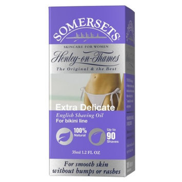 Somersets Women's Extra Delicate Bikini English Shave Oil, 1.2 fl oz