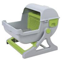 Sportpet Quick Sift Litter Box - Grey/Green