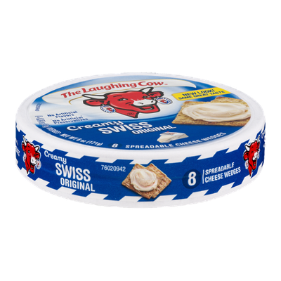 The Laughing Cow Creamy Swiss Original Spreadable Cheese Wedges - 8 CT