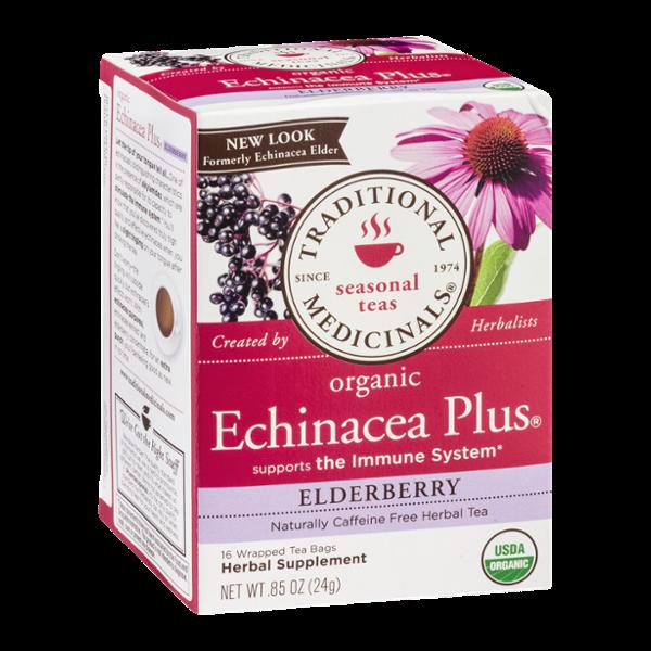 Traditional Medicinals Seasonal Teas Organic Echinacea Plus Elderberry Tea Bags - 16 CT