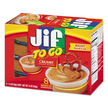 Jif Peanut Butter To Go Creamy, 12 OZ (Pack of 6)