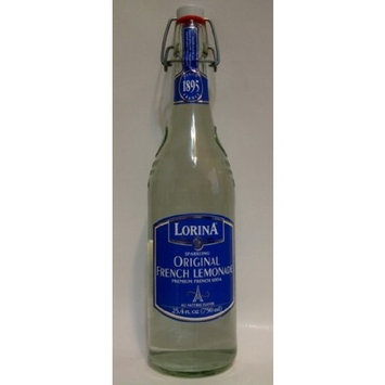 Lorina Sparkling Original French Lemonade 25.4oz (750ml Each Bottle) 2pack - Product of France