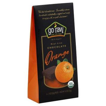 Go Raw Real Live Chocolate Organic Orange - 6 Pieces - Vegan