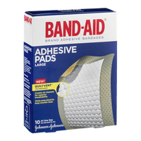 Band-Aid Adhesive Pads Large - 10 CT