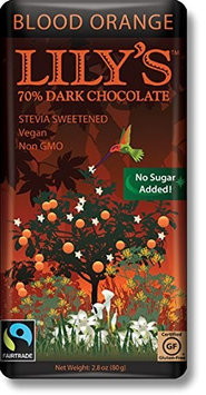 Lily's Sweets BAR, DK CHOC, BLD ONG,70STV, (Pack of 12)