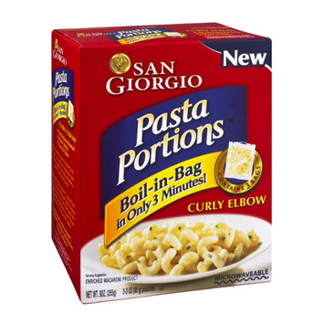 San Giorgio Pasta Portions Enriched Macaroni Product Curly Elbow - 3 CT