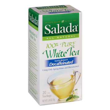 Salada All Natural Decaffeinated 100% Pure White Tea Bags- 20 CT