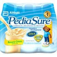 ROSS NUTRITIONAL Pediasure Liquid Complete Balanced Nutrition Enteral Formula Institutional-Use, Banana Cream - 8 oz/can, 24 / Case