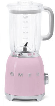 Smeg BLF01PKUS 50s Retro Style Blender with 6 Cups Tritan BPA-Free Jug Detachable Stainless Steel Dual Blades Overload Motor Protection 4 Speeds and 3 Preset