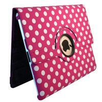 Bargain Tablet Parts Ipad 2 and Ipad 3 Polka Dot Rotating Case