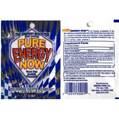 PURE ENERGY NOW 24 pk / 3 tbs