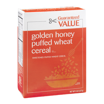 Guaranteed Value Golden Honey Puffed Wheat Cereal