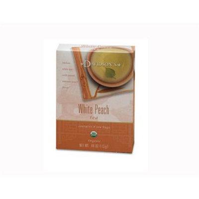 Davidson's Tea Davidson Organic Tea 2242 White Peach Tea Box of 8