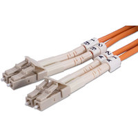 QVS 1m Fiber Duplex LC Male to LC Patch Cord, FDLC-1M