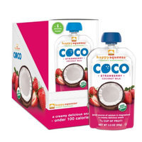 Happy Squeeze Organic Coco Coconut Milk Strawberry