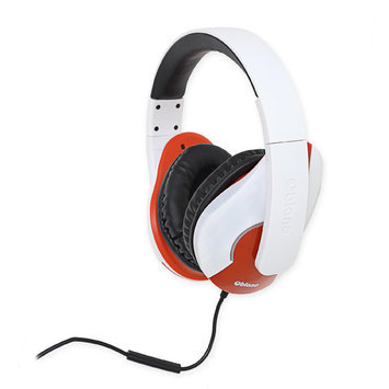 Syba SYBA Multimedia Oblanc Shell (White/Red) Stereo Headphone w/In-line Microphone