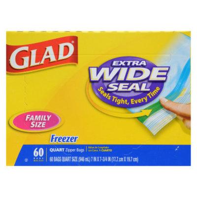 Glad Family Size Freezer Bags - Quart, 56 ct