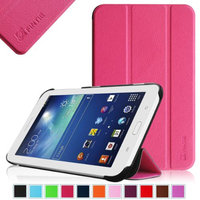 Fintie Slim Shell Case Cover Ultra Slim Lightweight Stand for Samsung Galaxy Tab 3 Lite 7.0 Tablet, Magenta