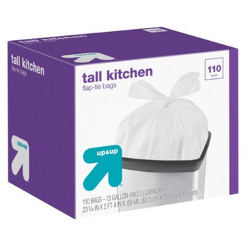 up & up Flap-Tie Tall Kitchen Bags 13 gal 110 ct