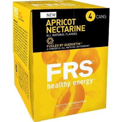 FRS Healthy Energy Liquid, Apricot Nectarine, 11.5-Ounce Cans (Pack of 24)