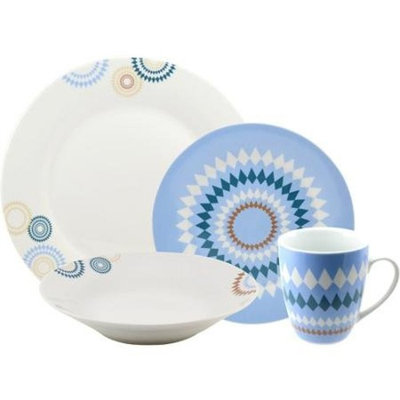 Gibson TEN Collection By 10 Strawberry Street Diamonte 16-piece Dinnerware Set