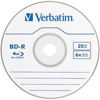 Verbatim VER97341 Blu-Ray 25Gb Bd-R Discs Pack of 3