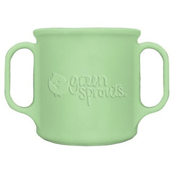 green sprouts 7 Ounce Silicone Cup, Green
