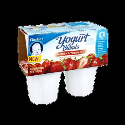 Gerber Simply Strawberry Yogurt Blends - 4CT