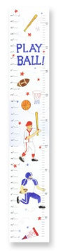 Stupell Industries The Kids Room Growth Chart - Play Ball