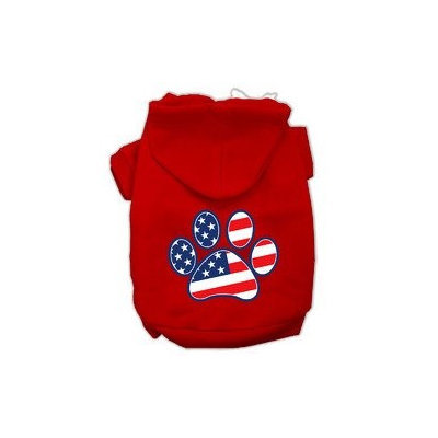 Mirage Pet Products Patriotic Paw Screen Print Pet Hoodies Red Size XXL (18)