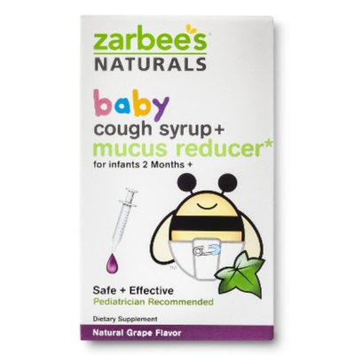 Zarbee's Naturals Baby Grape Cough Syrup + Mucus Reducer - 2.0 oz